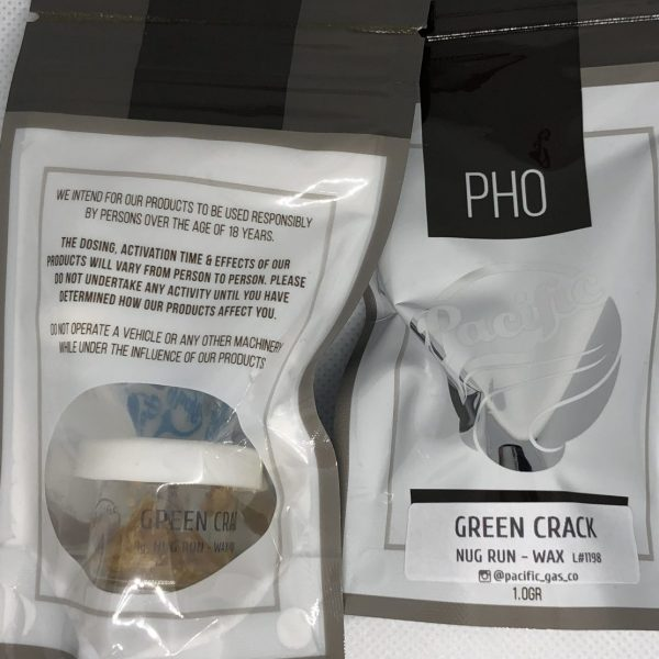 Green Crack 1G Wax | Pacific Gas Co.