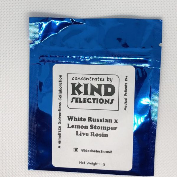 White Russian x Lemon Stomper Live Rosin | Kind Selections