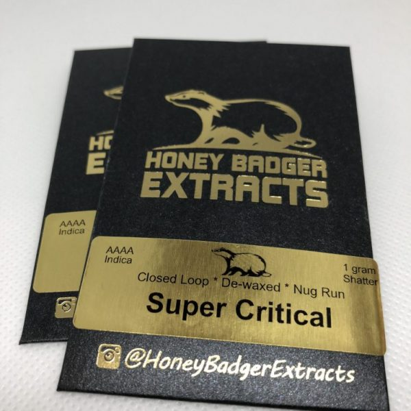 1G Super Critical Shatter | Honey Badger Extracts