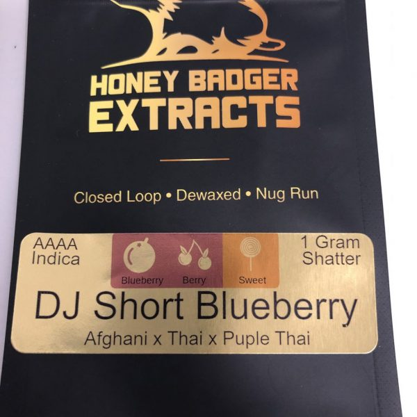 DJ Short Blueberry Shatter | Honey Badger Extracts