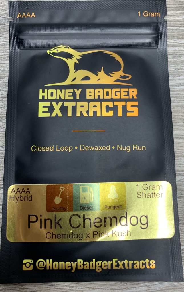 PINK Chemdog Shatter | Honey Badger Extracts