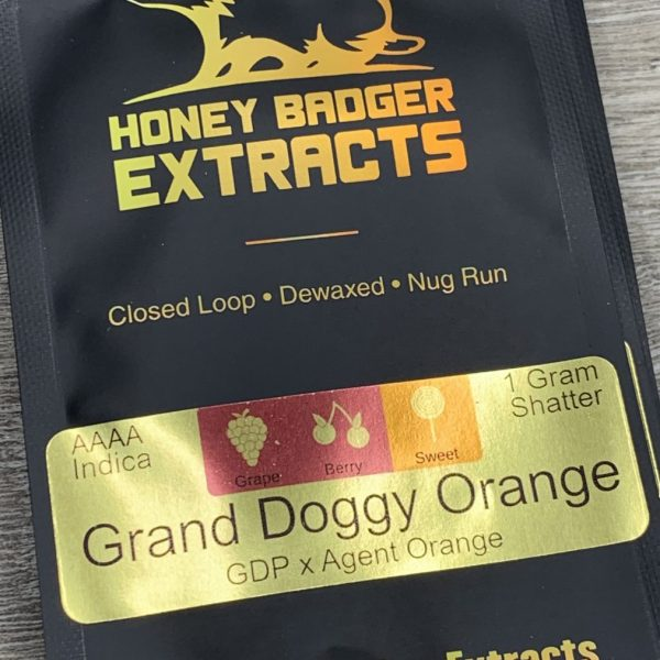 Granddoggy Orange Shatter | Honey Badger Extracts