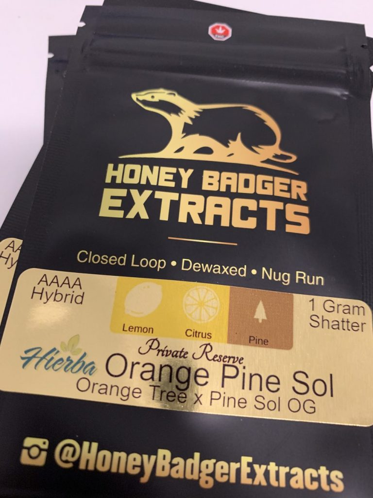 Orange Pine Sol Private Reserve Shatter | Honey Badger Extracts
