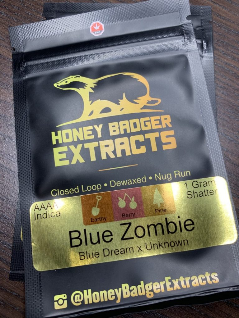 Blue Zombie Shatter | Honey Badger Extracts