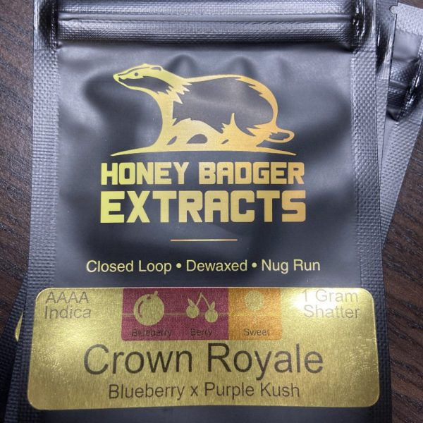 Crown Royale Shatter | Honey Badger Extracts