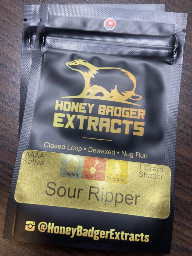 Sour Ripper Shatter | Honey Badger Extracts