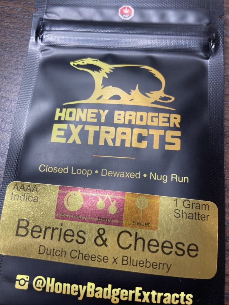 Berries & Cheese Shatter | Honey Badger Extracts