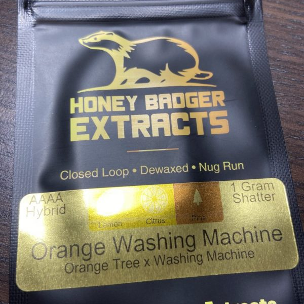 Orange Washing Machine Shatter | Honey Badger Extracts