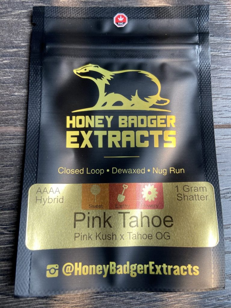 Pink Tahoe Shatter | Honey Badger Extracts