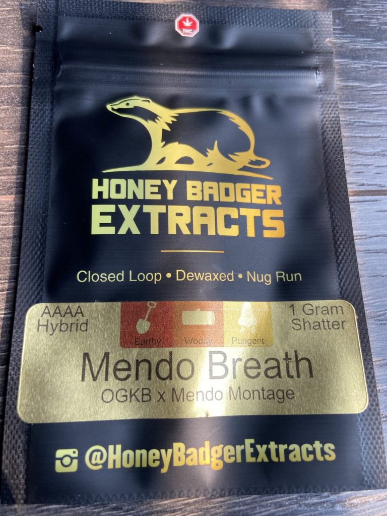Mendo Breath Shatter | Honey Badger Extracts
