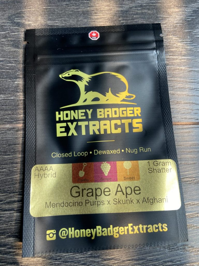 Grape Ape Shatter | Honey Badger Extracts