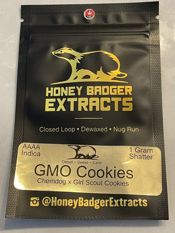 GMO Cookies Shatter | Honey Badger Extracts