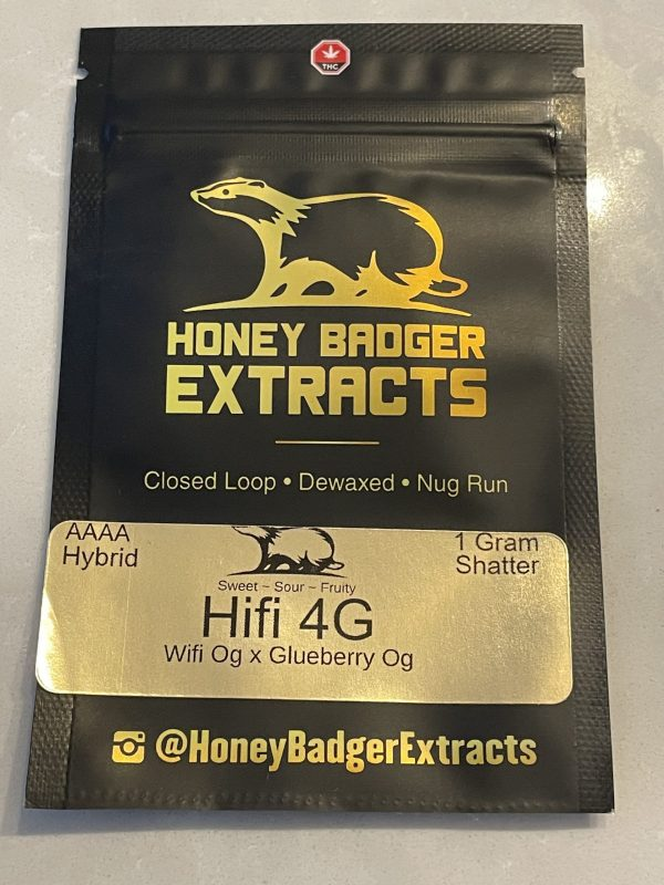 HIFI 4G Shatter | Honey Badger Extracts