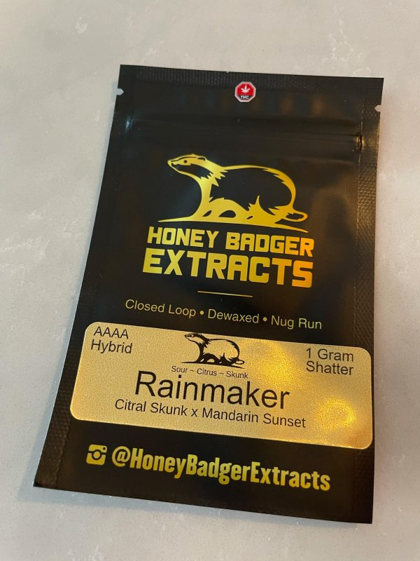 Rainmaker Shatter | Honey Badger Extracts