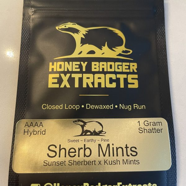 Sherb Mints Shatter | Honey Badger Extracts