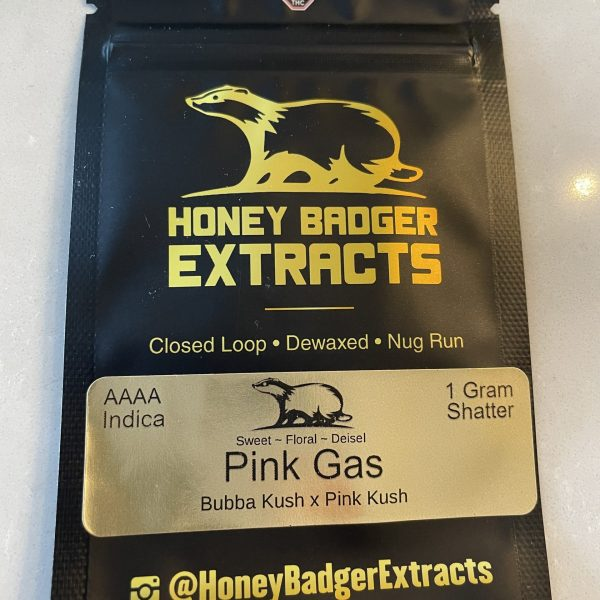 Pink Gas Shatter | Honey Badger Extracts