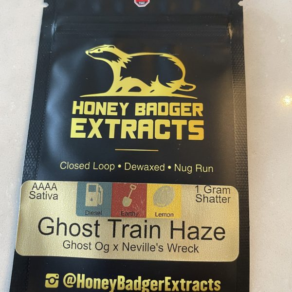 Ghost Train Haze Shatter | Honey Badger Extracts