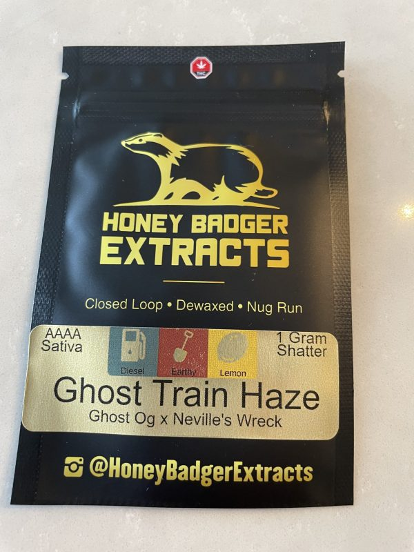 Ghost Train Haze Shatter   Honey Badger Extracts